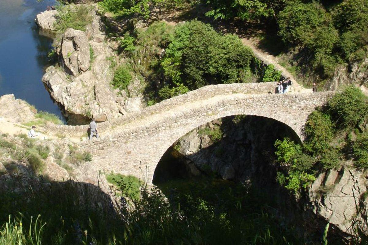The Devil's Bridge at Thueyts (Ardeche)